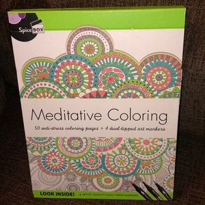 NEW Meditative Coloring Anti-Stress Coloring Kit